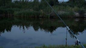 Pesca na lagoa na noite filme