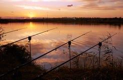 Pesca na noite Fotografia de Stock