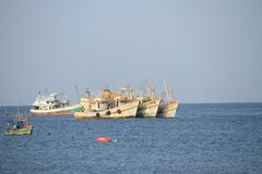 Pesca na província de Chonburi, Tailândia Fotografia de Stock