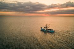 Pesca no alvorecer imagens de stock royalty free