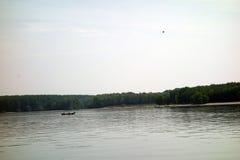 Pesca no Danube River fotografia de stock royalty free