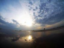 Pesca no mar da reflexão fotos de stock
