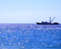 Pesca no oceano Fotografia de Stock Royalty Free