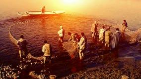 Pesca no por do sol vídeos de arquivo