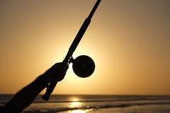 Pesca no por do sol Imagem de Stock Royalty Free