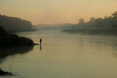 Pesca no rio Foto de Stock