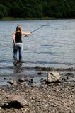 Pesca ocasional Imágenes de archivo libres de regalías