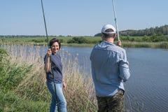 Pesca ou dobrar dos pares foto de stock