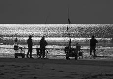 Pesca pólo da ressaca Imagem de Stock