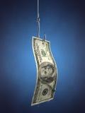 Pesca para o dinheiro Fotos de Stock Royalty Free