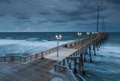 A pesca Pier Nags Head North Carolina de Jennette Fotografia de Stock Royalty Free