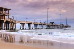 A pesca Pier Nags Head North Carolina de Jennette Imagens de Stock