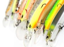 A pesca plástica seduz o tiro macro Foto de Stock