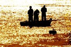Pesca por la mañana Fotos de archivo libres de regalías
