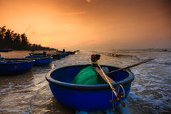 Pesca por um dia novo Fotos de Stock Royalty Free