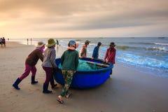 Pesca por um dia novo Foto de Stock Royalty Free