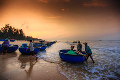 Pesca por um dia novo Imagens de Stock Royalty Free