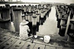 Pesca preto e branco Imagens de Stock Royalty Free