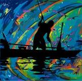 Pesca primitiva Fotos de Stock Royalty Free