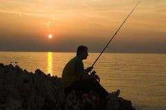 Pesca ritardata Fotografie Stock