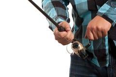 Pesca Rod e carretel Fotografia de Stock Royalty Free