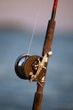 Pesca Rod e carretel do vintage imagem de stock royalty free