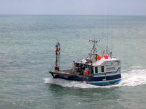 Pesca sportiva Boad Fotografia Stock Libera da Diritti