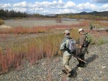 Pesca - strada al fiume Immagine Stock Libera da Diritti