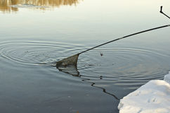 Pesca sul ghiaccio Immagini Stock Libere da Diritti