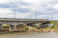 Pesca y artes debajo encendido del puente del Kazán Fotografía de archivo libre de regalías