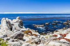 Pescadero-Punkt bei einem 17 Meilen-Antrieb in Big Sur Kalifornien Lizenzfreies Stockbild