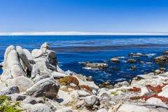 Pescadero-Punkt bei einem 17 Meilen-Antrieb in Big Sur Kalifornien Stockfotos