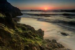 Pescadero State Beach Sunset Stock Photo