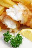 Pescado frito con patatas fritas Fotografía de archivo