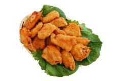Pescado frito con patatas fritas. Fotografía de archivo