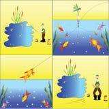 Pescador. ilustração stock