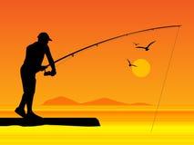 Pescador ilustração stock