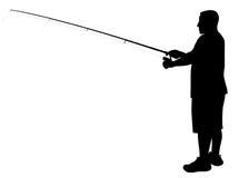 Pescador stock de ilustración