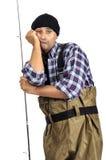 Pescador aburrido Imagen de archivo