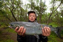 Pescador acertado Imagenes de archivo