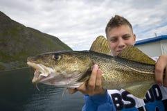 Pescador adolescente Fotografía de archivo