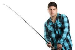 Pescador adolescente fotos de stock