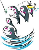 Pescador afortunado Imagens de Stock Royalty Free