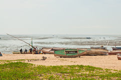 Pescador africano en Mozambique Foto de archivo