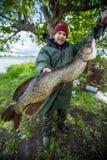 Pescador amador novo fotos de stock royalty free