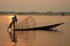 Pescador Burmese Fotos de Stock