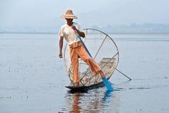 Pescador Burmese Imagens de Stock