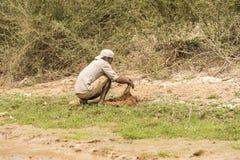 Pescador cerca de Siem Reap Fotos de archivo libres de regalías