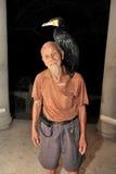 Pescador chino no identificado Imagen de archivo