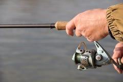 Pescador com giro Imagens de Stock